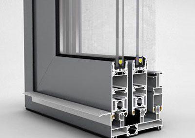 Sistemi scorrevoli in alluminio